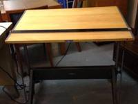 "Vintage Drafting Table or Writing Desk 36"" $370 Booth"