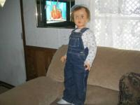 Vintage Boy doll, 33 inches tall.Blonde hair. Well