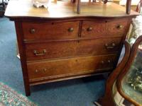 Antique 2 over 2 dresser w/mirror. Simply requires 2