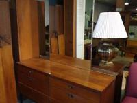 Vintage dresser with tall mirror. In good condition &