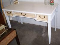 vintage white desk by Drexel in good condition. Solid