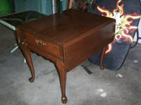 high quality queen ann cocktail table / end table with