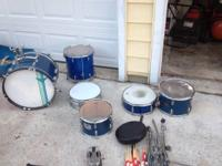 Up for sale is a vintage drum set. It is made by US