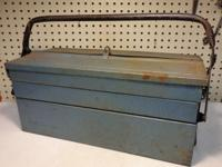 Vintage Duplex Cantilever 2 Tier Pull Open Steel Tool