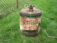 "Item description: Vintage ""Durable Motor Oil"" Can. This"