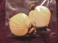 Earrings Shell- wooden & black corral beadsThis set is