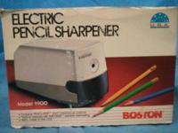 Vintage, Boston electric pencil sharpener. Exclusive