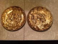Two 10 inch Brass Elpec wall plaques,made in England,