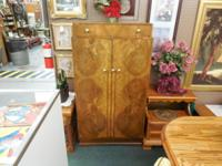Vintage English Deco Armoire 1940's Beautiful 30x17x55
