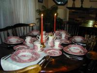 Vintage Ethan Allen Dinning Room Table And 6 Fiddle
