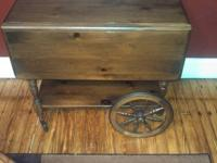 Vintage Ethan Allen Rolling Tea Cart IT WAS MADE BY