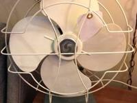 Vintage Fans 1950's Aqua Fan On Sale Was $65 Sale Price