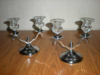 FARBERWARE  CANDLE HOLDERS CANDLEABRA  SET OF