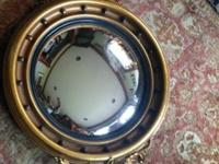 Vintage Federal Style Convex Wall Mirror with Eagle