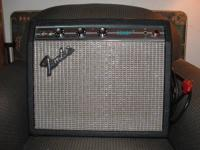 I have a Fender Champ amp- Silverface 1970's. Sitting