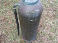 Antique Fire Extinguisher - Torpedo Shell - General