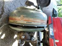 Vintage Firestone 3.6 hp outboard motor. late 1940's