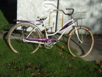 I have a vintage girl's bike for sale for $100.00. This