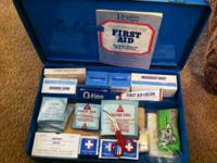 Vintage First Aid Kit including Readers Digest Guide to
