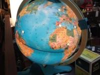 Vintage Fisher Price Lighted Globe $48. Mid Century