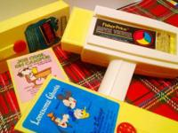 This is a Fisher-Price 1973 Movie Viewer that comes