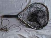 Vintage fishing net. Aluminum frame handheld. Excellent