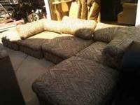 cool vintage five piece couch arrange it any way you