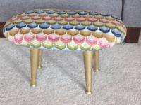"Vintage foot stool Mid Century Modern 11"" tall 19"" long"