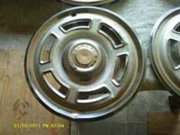 Vintage Ford Falcon Hubcaps,little dinged up but can be