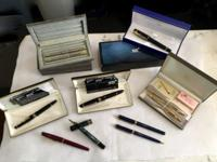 Vintage Fountain Pens Mont Blanc, Parker, Cross and