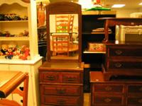 vintage foyer chest with mirror $125.00 can be seen 9am