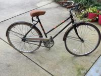 Vintage 3 Speed Free Spirt Girls Bike Needs Air in