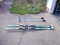 Vintage Freestyle Skiis 1970s Labeled with Y170 8A P04
