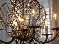 Beautiful high quality French crystal/brass chandelier