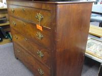Vintage french provincial 8 drawer dresser & mirror. In