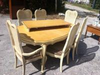 Vintage French Provincial Leaf Dining Set $199 Dining