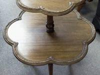 Lots of vintage furniture and other items. Tables,