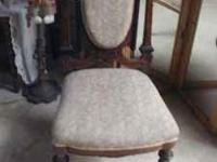 "ALL ON SALE: 1930""s Hardwood Side Table $50.00;"
