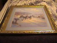 I am offering a framed G Harvey print, framed and