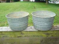 I have 1 vintage galvanized tub with handles left. It