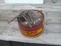 I have an old vintage 2 1/2 gallon metal gas can with