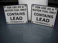 Here are a pair of gas signs in great condition.