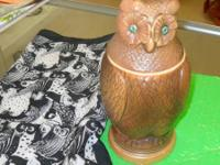 ONE-OF-A-KIND OWL BEER STEIN BELIEVE TO BE GIRMSCHEID