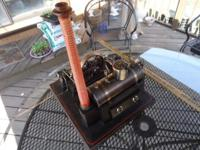 vintage German Made steam Engine by d.c. co. look what