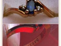 This is a Vintage Gold over Sterling Sapphire ring,