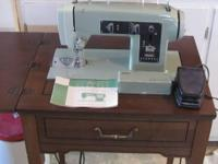 Vintage Green Kenmore Sewing Machine in original