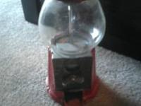 this is a vintage gum ball machine from the 1980's.