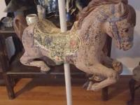 Vintage, Carousel, Hand-Painted, Wonder Horse