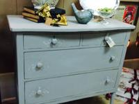 We just brought in a handpainted chest of drawers.
