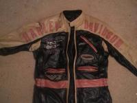 Leather riding jacket with removable liner. Leather on